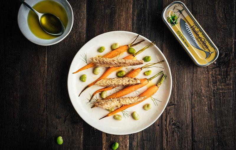 Carottes grillées filets de maquereaux citron la belle iloise